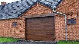 Заборы и ворота - Секционные ворота 4х3,3м , 0