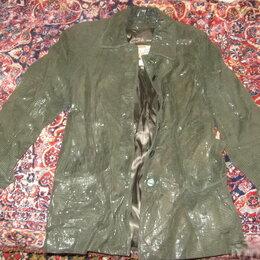 Куртки - Куртка кожа крэк. Авантюрин Еловый лес. Италия, 0