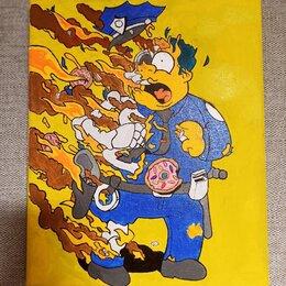 Картины, постеры, гобелены, панно - Картина 🖼 «Fire man» (под заказ), 0