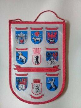Флаги и гербы - Вымпелы ГДР и СССР рэтро , 0