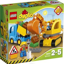 Конструкторы - LEGO DUPLO 10812 Грузовик и гусеничный экскаватор, 0