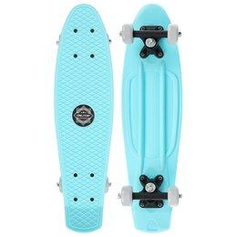 Скейтборды и лонгборды - Скейтборд 56 х 15 см, колеса PVC 50 мм, пластиковая рама, цвет голубой, 0