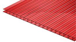 Поликарбонат - Сотовый поликарбонат КИВИ Красный 6000х2100х10 мм, 0