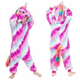 Костюмы - Пижама Кигуруми Звездный Единорог Полосатый Розово-Голубой размер 95-110см, 0