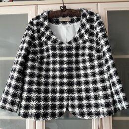 Пиджаки - Жакет пиджак шанель гусиная лапка, 0