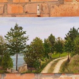 Картины, постеры, гобелены, панно - Картина маслом на холсте весенний пейзаж дорога с натуры пленэр @nataly_art_tag , 0