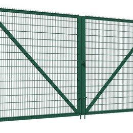 Заборы, ворота и элементы - Ворота и калитки  распашные из сварной 3Д сетки, секции и столбы, 0