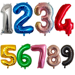 """Воздушные шары - Воздушные шары Цифры """"0-9"""" 82 см, 0"""