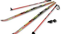 Беговые лыжи - Лыжный комплект полупластиковый STC (лыжи, NNN…, 0
