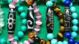 Браслеты - Бусины Дзи на браслетах из натуральных камней, 0