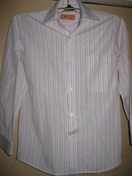 Рубашки - Рубашка в полоску на мальчика 8-10 лет , 0