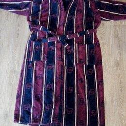 Домашняя одежда - Мужской домашний халат большой размер 4XL(58-60) 100 % Cotton., 0
