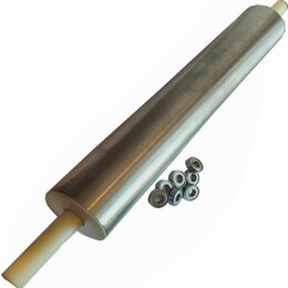 Скалки - скалка для теста профессиональная металлическая 65-10см с подшипниками, 0