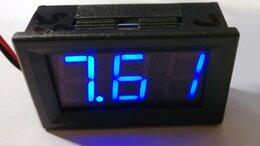 Измерительные инструменты и приборы - Цифровой Вольтметр  0,56 (5-30v) (синий), 0