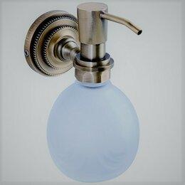 Мыльницы, стаканы и дозаторы - Дозатор жидкого мыла керамика Retro Classic R-7, 0