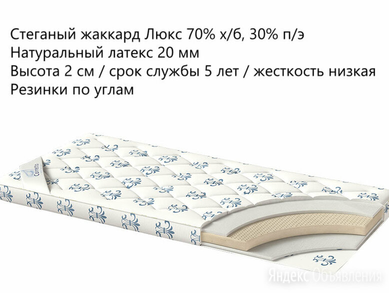 Наматрасник Latex Premium 120x200 по цене 10133₽ - Наматрасники и чехлы для матрасов, фото 0