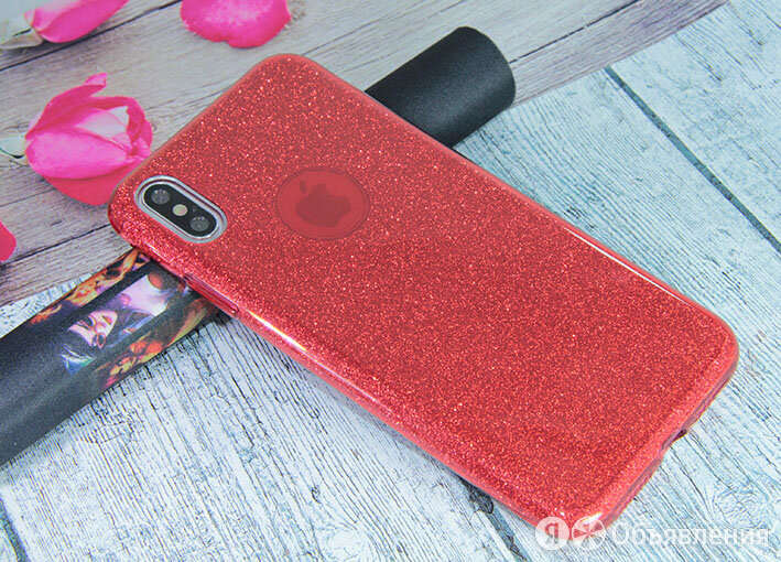 Чехол-накладка для iPhone XS Max JZZS Shinny 3в1 TPU красная по цене 180₽ - Защитные пленки и стекла, фото 0