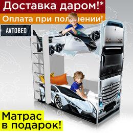 Кроватки - Двухъярусная кровать машина детская кровать для мальчика, 0