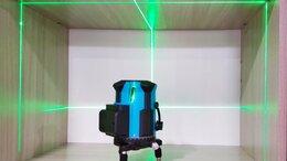 Измерительные инструменты и приборы - Лазерный нивелир уровень 5 лучей (зелёный луч), 0