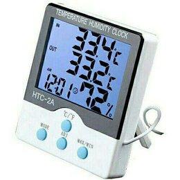 Метеостанции, термометры, барометры - Метеостанция HTC-2A термометр, часы, гигрометр, 0