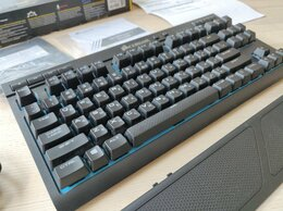 Клавиатуры - Клавиатура Corsair K63 Wireless Blue LED Cherry…, 0