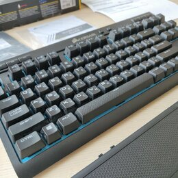 Клавиатуры - Клавиатура Corsair K63 Wireless Blue LED Cherry MX Red, 0