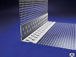 Отделочный профиль, уголки - Усилитель угла с сеткой 10х15см, 25мп, 0