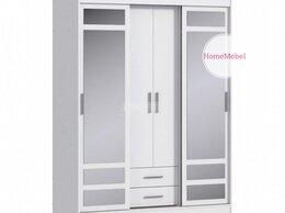 Шкафы, стенки, гарнитуры - Шкаф купе с зеркалом белый новый , 0