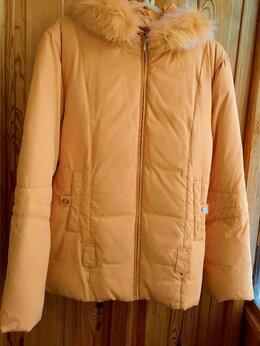 Пуховики - Зимняя женская куртка – пуховик  жёлтая фирма…, 0