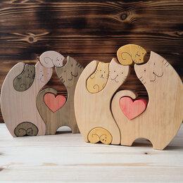 """Игровые наборы и фигурки - Деревянный пазл """" Любимые кошечки"""", 0"""