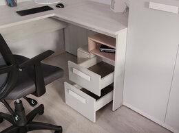 Компьютерные и письменные столы - Румика Пинк С2 стол угловой для школьника, 0