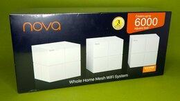 Проводные роутеры и коммутаторы - Бесшовный Mesh роутер Tenda Nova AC1200 (MW6 3PK), 0