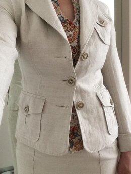 Костюмы - Костюм льняной DRESS CODE с юбкой и блузкой, 0