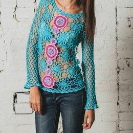 Блузки и кофточки - Вязаная блузка кофточка, 0