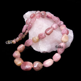Колье - 💖 Бусы из турмалина натурального, розовый…, 0