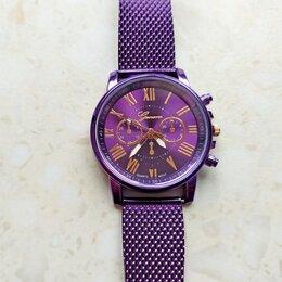 Наручные часы - Часы женские кварцевые (фиолет. новые), 0
