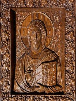 Статуэтки и фигурки - Панно резное «Иисус», 0