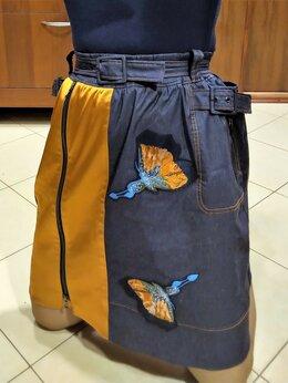 Юбки - 🔴 Max Mara Италия юбка с поясом атлас вышивка, 0