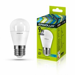 Лампочки - Светодиодная лампа E27 9W 4500K Ergolux Ergolux…, 0