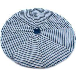 Аксессуары для садовой мебели - Матрас для гамака, диаметр 140 см синий/белый, 0