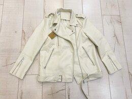 Куртки - Новая кожаная куртка косуха белая, 0