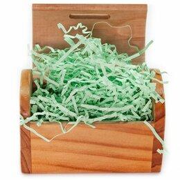 Подарочная упаковка - Наполнитель бумажный светло-зеленый, 50гр, 0