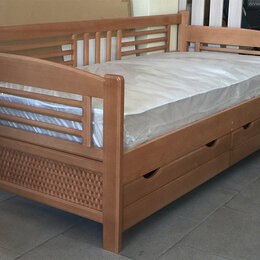 Кровати - Тахта Анна Люкс с ящиками, массив бука, 0
