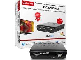ТВ-приставки и медиаплееры - Цифровой приемник ТВ DVB-T2 D-Color DC910HD, 0