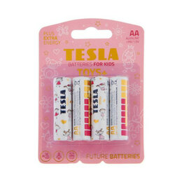 Батарейки - Батарейки TESLA AA TOYS GIRL Alkaline (LR06/блисте, 0