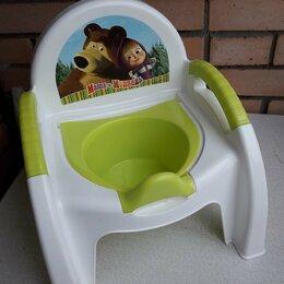 Горшки и сиденья - Детский сантехкомплект (горшок Маша и Медведь, и сиденье-накладка для унитаза), 0