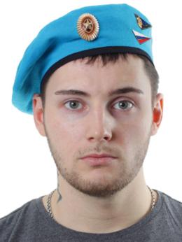 Головные уборы - Берет голубой «ВДВ», кокарда с лавром и уголок…, 0