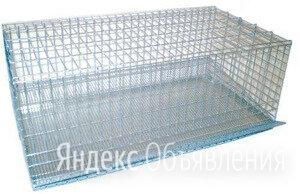 Клетка металлическая оцинкованная с выдвижным поддоном (90х45х30 см.) по цене 2500₽ - Клетки и домики, фото 0