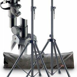 Кронштейны и стойки - Stagg SPS-0820 BK SET - 2 стойки под акустические системы с черным нейлоновым че, 0