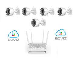 Камеры видеонаблюдения - Комплект на 5камер ezviz С3N +Vault Plus, 0